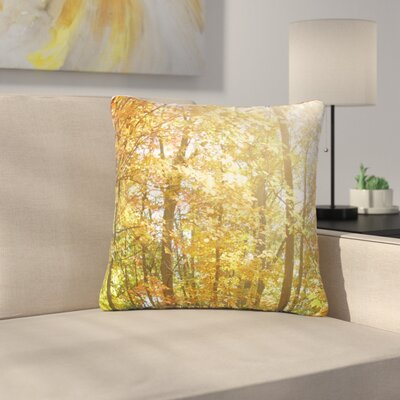 Sylvia Coomes Autumn Trees Outdoor Throw Pillow Size: 16 H x 16 W x 5 D, Color: Orange/Yellow