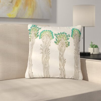 Pom Graphic Design Amazon Trees Outdoor Throw Pillow Size: 18 H x 18 W x 5 D