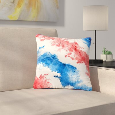 Patriotic Watercolor Outdoor Throw Pillow Size: 18 H x 18 W x 5 D