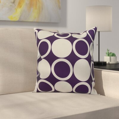 Memmott Small Mod-circles Throw Pillow Color: Purple, Size: 16 x 16