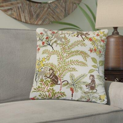 Zaid Foliage Cotton Throw Pillow Color: White