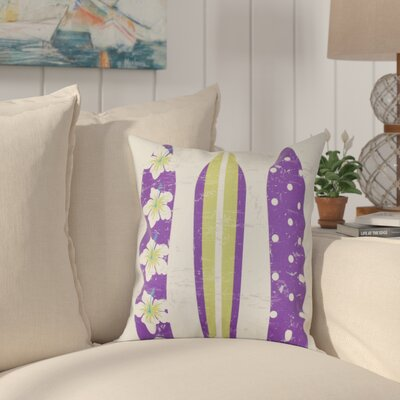 Pembrook Triple Surf Geometric Outdoor Throw Pillow Size: 18 H x 18 W, Color: Purple