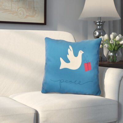 Decorative Holiday Animal Print Outdoor Throw Pillow Size: 20 H x 20 W, Color: Teal