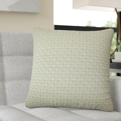 Quintanar Geometric Throw Pillow Color: Green
