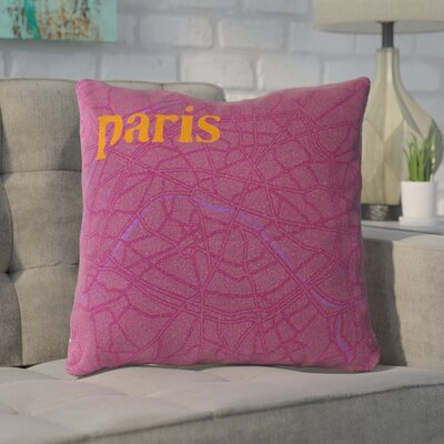 Detroit Cotton Throw Pillow Size: 18 H x 18 W, Filler: Polyester