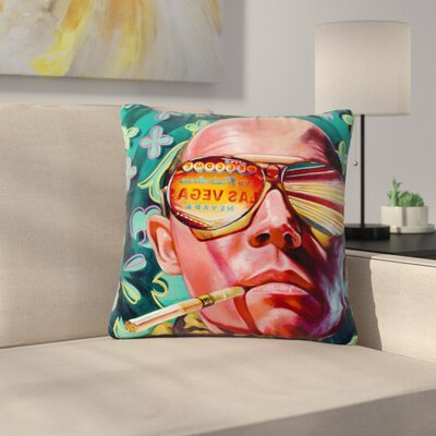 Jared Yamahata Bad Trip Pop Art Floral Outdoor Throw Pillow Size: 16 H x 16 W x 5 D