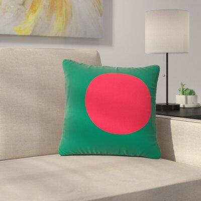 Bruce Stanfield Flag of Bangladesh Digital Outdoor Throw Pillow Size: 16 H x 16 W x 5 D