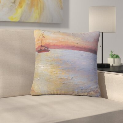 Carol Schiff Evening Anchor Painting Outdoor Throw Pillow Size: 16 H x 16 W x 5 D