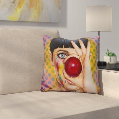 Tears of A Clown Throw Pillow