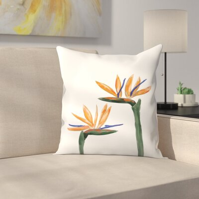 Jetty Printables Birds of Paradise Peekaboo Throw Pillow Size: 14 x 14