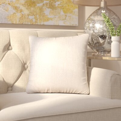 Alas Throw Pillow Size: 20 H x 20 W x 4 D, Color: Snow