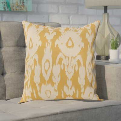 Decorative Polyester Throw Pillow Size: 26 H x 26 W, Color: Gold