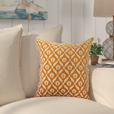 Deveal Geometric Cotton Throw Pillow Color: Cinnamon, Size: 22 x 22