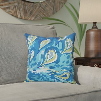 Willa Boho Splash Geometric Print Throw Pillow Size: 20 H x 20 W, Color: Turquoise