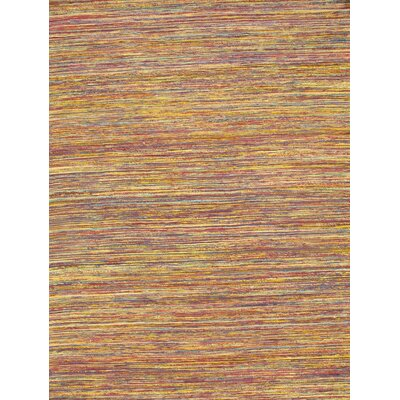 Genuine Modern Flat Weave Hand-Knotted Silk Red/Yellow Area Rug