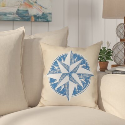 Hancock Compass Geometric Print Throw Pillow Size: 16 H x 16 W, Color: Taupe