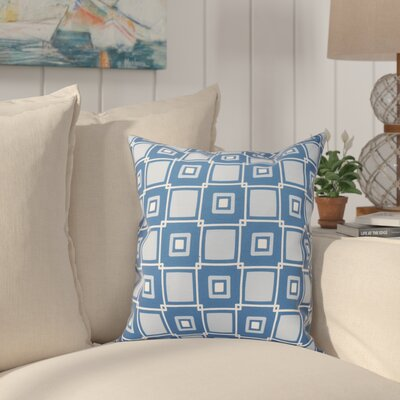 Cedarville Square Geometric Print Throw Pillow Size: 18 H x 18 W, Color: Blue