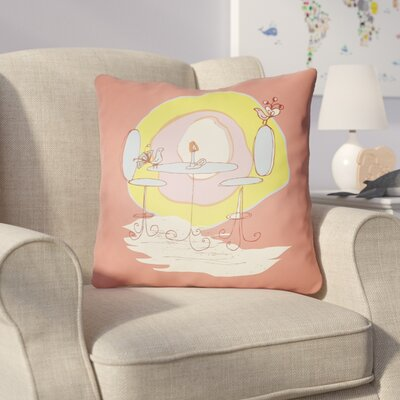 Colindale Square Indoor Throw Pillow Size: 18 H x 18 W x 4 D, Color: Coral