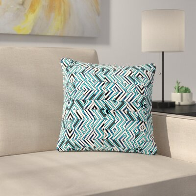 Dawid Roc Maze Geometric Abstract 2 Pattern Outdoor Throw Pillow Size: 18 H x 18 W x 5 D