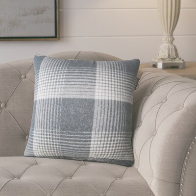 Gladding Plaid Cotton Throw Pillow Color: Charcoal