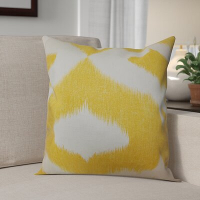 Otter Creek Throw Pillow Color: Yellow, Size: 18 H x 18 W