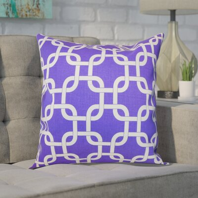 Sessums 100% Cotton Throw Pillow Color: Purple, Size: 20 H x 20 W