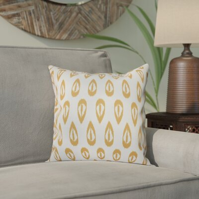 Sabrina Tears Geometric Print Throw Pillow Size: 20 H x 20 W, Color: Gold