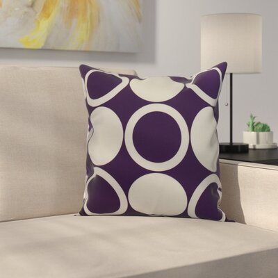 Memmott Mod Circles Throw Pillow Color: Purple, Size: 16 x 16