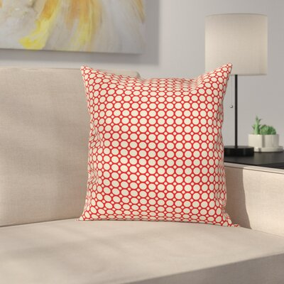 Big Small Polka Dots Cushion Pillow Cover Size: 16 x 16