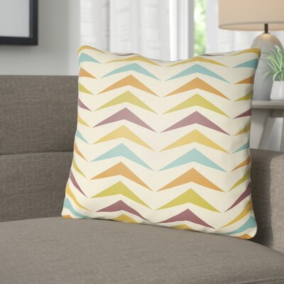 Wakefield Contemporary Square Throw Pillow Size: 20 H x 20 W x 4 D, Color: Orange/Yellow/Purple