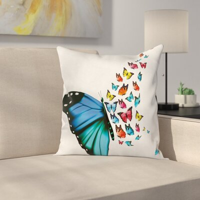 Butterfly Concept Art Monarch Square Pillow Cover Size: 24 x 24