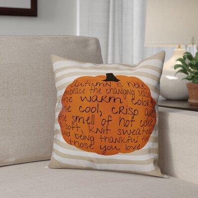 Embrace Autumn Throw Pillow Pillow Use: Outdoor