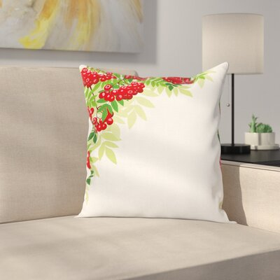 Bunch of Ripe Berries Square Pillow Cover Size: 16 x 16