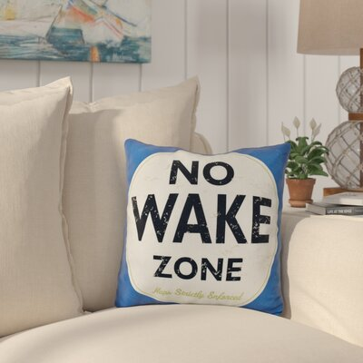 Nap Zone Outdoor Throw Pillow Color: Blue