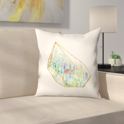 Terrarium Throw Pillow Size: 16 x 16