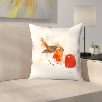 Splashy Robin And Bauble Throw Pillow Size: 16 x 16