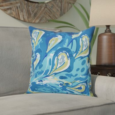 Willa Boho Splash Geometric Outdoor Throw Pillow Size: 20 H x 20 W, Color: Turquoise