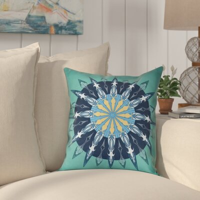 Hancock Sea Wheel Geometric Print Outdoor Throw Pillow Size: 18 H x 18 W, Color: Green