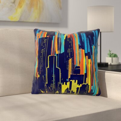 Strippy City by Frederic Levy-Hadida Throw Pillow Size: 26 H x 26 W x 5 D