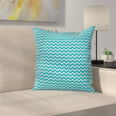 Chevron Sea ed Zigzags Cushion Pillow Cover Size: 20 x 20