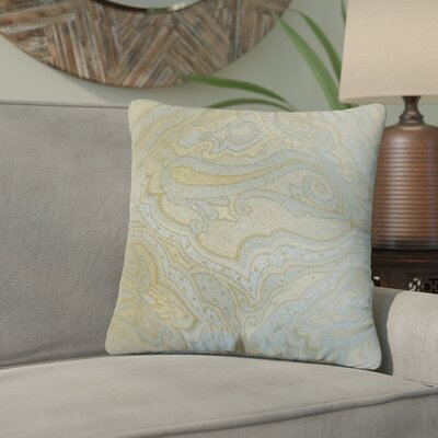 Zadie Damask Throw Pillow Color: Mineral