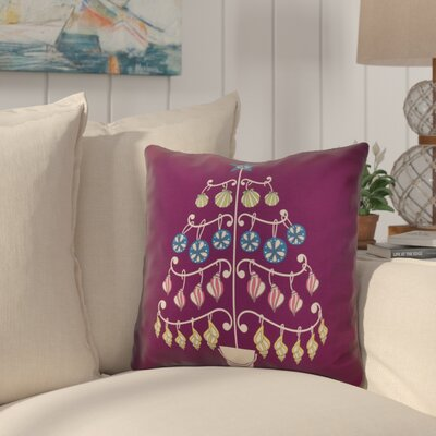 Huong Decorative Holiday Geometric Print Square Throw Pillow Size: 20 H x 20 W, Color: Purple