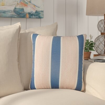 Varela Striped Cotton Throw Pillow Color: Pink/Green