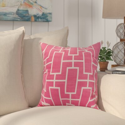 Cawley Lattice Geometric Print Indoor/Outdoor Throw Pillow Color: Pink/Fushcia, Size: 16 x 16
