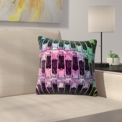 Paint Tubes by Theresa Giolzetti Outdoor Throw Pillow Color: Blue/Pink
