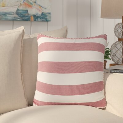 Stowe Modern Striped Throw Pillow Pillow Cover Color: Red