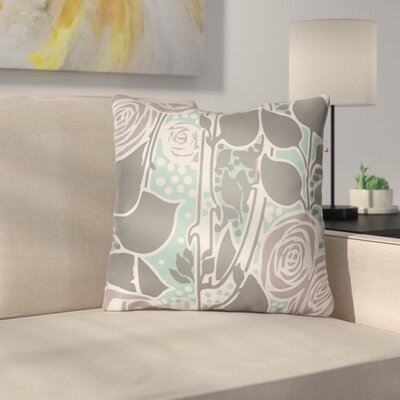 Capron Throw Pillow Size: 18 H x 18 W x 4 D, Color: Grey/Mauve/Turquoise
