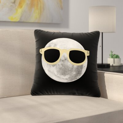 Mr. Moon Illustration Outdoor Throw Pillow Size: 16 H x 16 W x 5 D