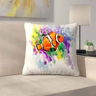 Coral Reef Fish 1 Throw Pillow Size: 14 x 14