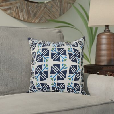 Willa Jodhpur Geometric Print Throw Pillow Size: 16 H x 16 W, Color: White